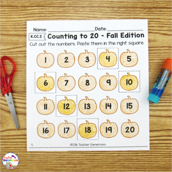 Counting Leaves- Math Worksheets K.CC.6