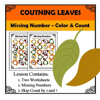 Kindergarten Math Pattern Recognition - Counting Leaves - Missing Numbers