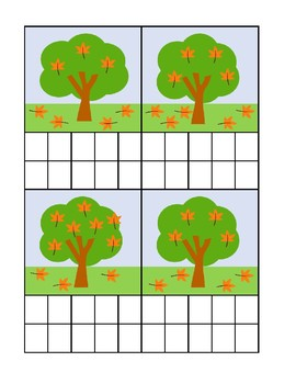 Counting Leaves Ten Frame Activity!