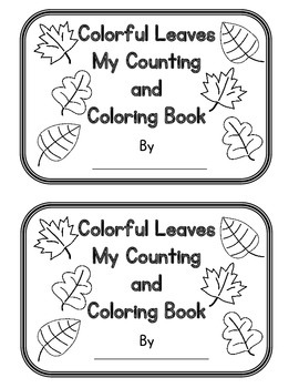 Counting Leaves a Fill in the Blank Number and Color book
