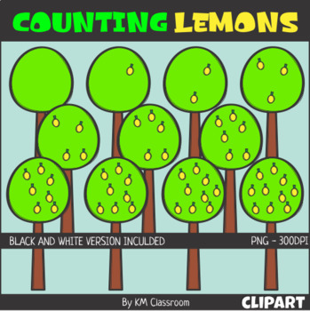 Counting Lemons ClipArt