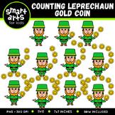Counting Leprechaun Gold Coins Clip Art
