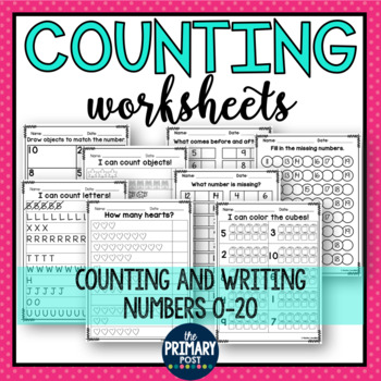 Counting Worksheets for numbers 0-20