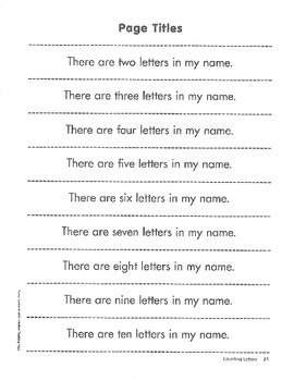 Counting Letters - How Many Letters Are in Your Name?