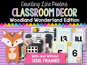Counting Line Posters: Woodland Wonderland Classroom Decor