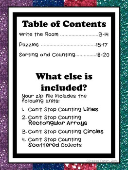 Counting Lines, Rectangular Arrays, Circles, and Scattered Objects MEGA BUNDLE