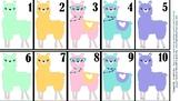 Counting Llama Flash Cards 1-30