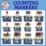Counting Markers Clipart