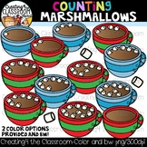 Counting Marshmallows Clipart {Hot Chocolate Clipart}
