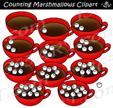 Counting Marshmallows Clipart - Hot Cocoa Cups
