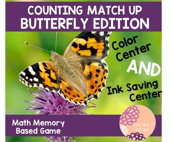 Counting Match Up- Butterfly Edition
