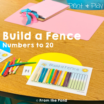 Counting Math Card Game / Center - Build a Fence