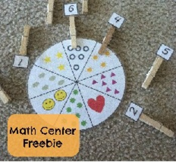 Counting Math Center: Matching Numbers to Pictures