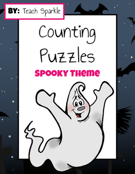 Counting Math Puzzles (Spooky Theme)