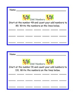 Counting Math Task Cards