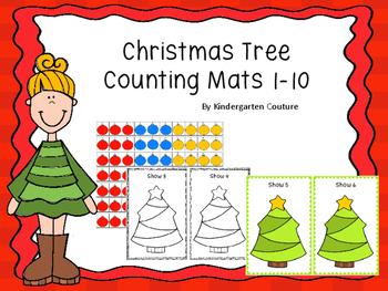 Counting Mats 1-10  Christmas Tree