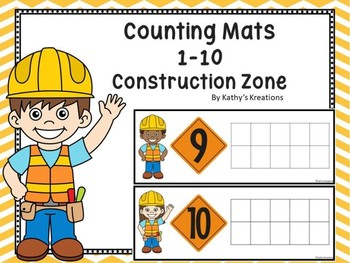 Counting Mats 1-10 Construction Zone Dollar Deal