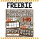 Counting Mats 1-10 For Every Month of the Year --- with Bonus FREEBIE