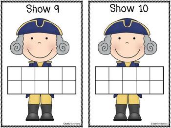 Counting Mats 1-10 George Washington