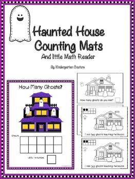Counting Mats 1-10 - Haunted House Theme with counting booklet