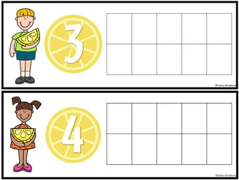 Counting Mats 1-10 Lemons Dollar Deal