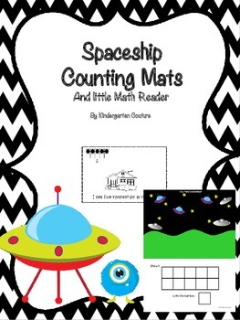 Counting Mats 1-10 Spaceship and a Counting Booklet