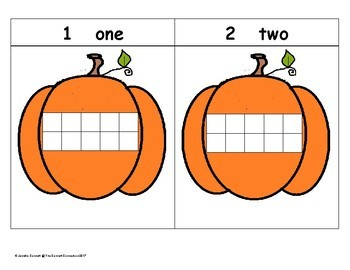 Fall Themed Counting Mats 1-20 with Four Different Sets