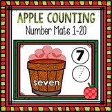 Counting Mats 1-20 (Apple Themed)