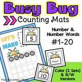 Counting Mats 1-20 {Bugs}