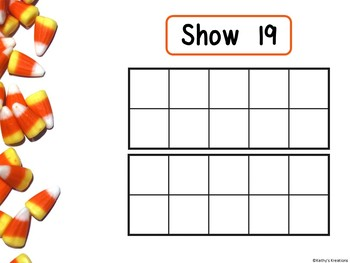 Counting Mats 1-20 Candy Corn