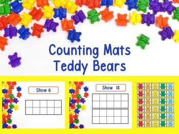 Counting Mats 1-20 Teddy Bears