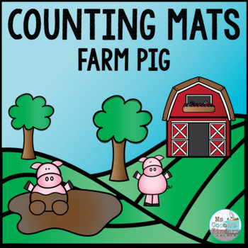 Counting Mats - Farm Pigs