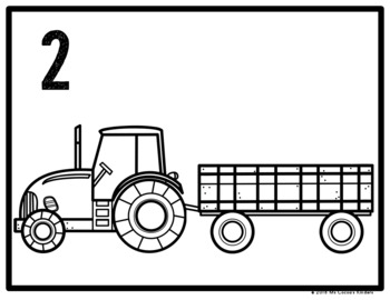 Counting Mats - Farm Tractor