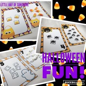 Halloween Counting Mats Bundle
