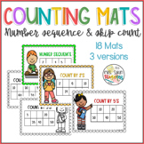 Counting Mats- Number sequence and count by 2's/5's/10's