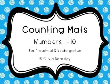 Counting Mats: Numbers 1-10 for Preschool & Kindergarten