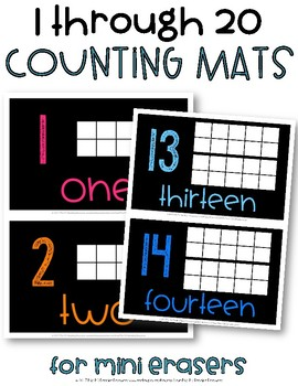 Counting Mats for Mini Erasers