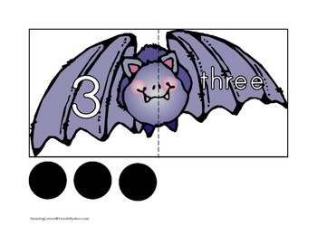 Counting Me Batty Puzzle Cards
