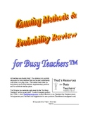 Counting Methods & Probability Review for Busy Teachers