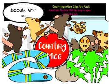 Counting Mice Clipart Pack