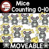 Counting Mice with Cheese 0-10 Moveable Clipart-digital and print allowed