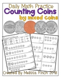 Counting Mixed Coins up to $1.00- Daily Math Practice