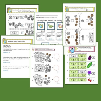 Counting Money Worksheets with Answer Keys