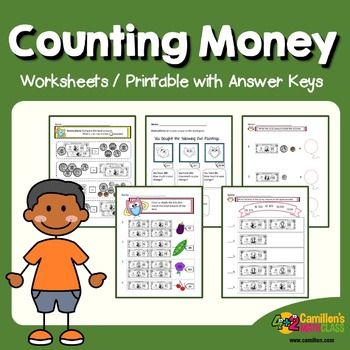 Money Counting Worksheets, Count Coin and Bills Practice Sheets