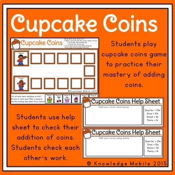 Counting Money - Counting Coins Game - Task Cards & Response Sheet
