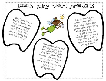 Counting Money:  A Dollar From the Tooth Fairy