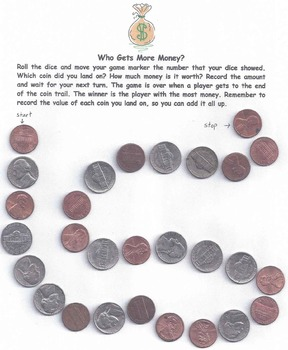 Counting Money Activity  -Game