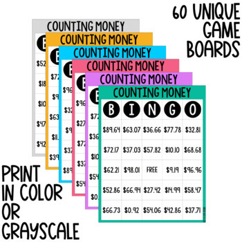 Counting Money BINGO - Digital & Print Versions - NO PREP Game