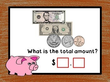 Counting Money - BOOM Cards! (24 Self-checking Cards) bills and coins up to $20
