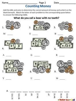 money bundle bingo task cards worksheets w riddles tpt. Black Bedroom Furniture Sets. Home Design Ideas